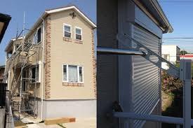 雨戸シャッター取付け工事 一戸建て住宅 海部郡