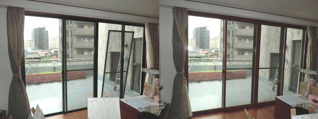 窓の防犯対策 二重窓 トステム製インプラス 防音対策 節電対策 名古屋市
