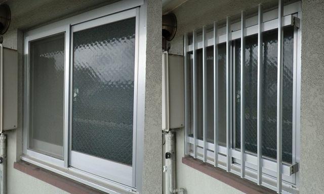 賃貸マンション アルミ面格子取付工事 名古屋市