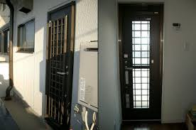 玄関ドアリフォーム 1ドア2ロック トステム製リシェント 名古屋市