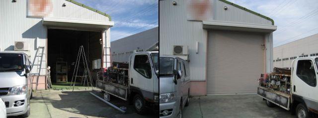 倉庫 軽量電動シャッター取替工事 名古屋市