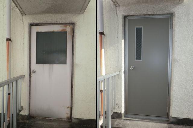 ビル用スチール製扉取替工事 名古屋市