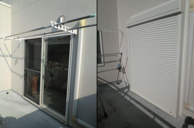 窓の防犯対策 一戸建て住宅 手動シャッター取付工事 名古屋市