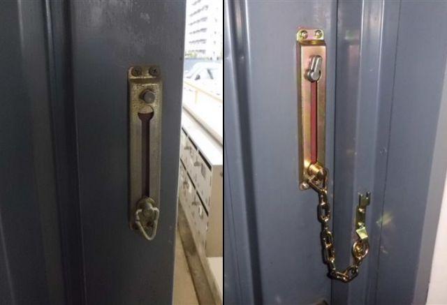玄関ドア 防犯対策 ドアチェーン取替工事 名古屋市
