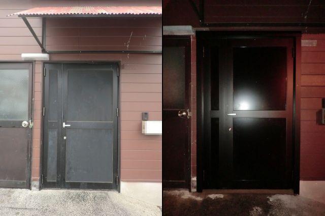 フロント工事 親子框ドア取替え工事 瀬戸市