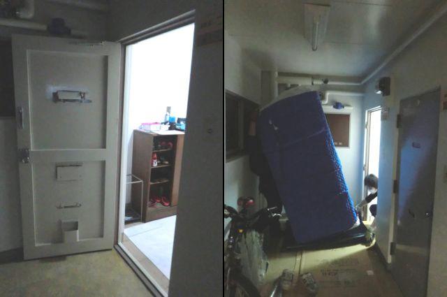 玄関ドア取外し、再取付け工事 名古屋市