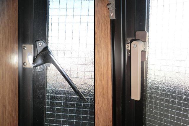 開き窓用 カムラッチハンドル取替工事 名古屋市