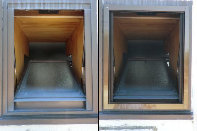 内倒し窓への網戸取付工事 固定式網戸 名古屋市