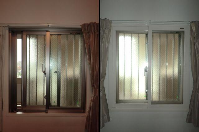 内窓工事 トステム製インプラス 窓の防犯対策、冷暖房対策 名古屋市