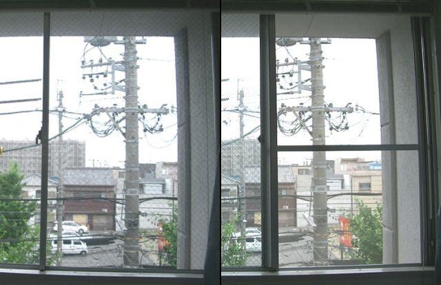 ビル用アルミサッシに網戸新設工事 名古屋市