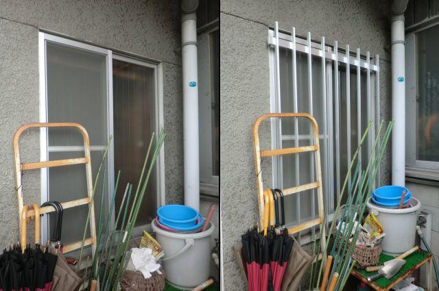 アルミ面格子取付工事 事務所の防犯対策 名古屋市