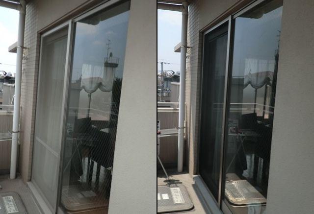 ベランダ掃出し窓用網戸 新規製作 名古屋市