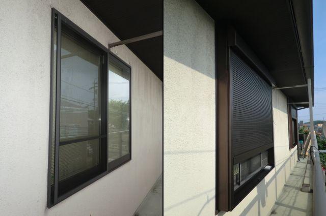 シャッターを閉めたまま風の採り入れ 電動シャッター取付工事 名古屋市