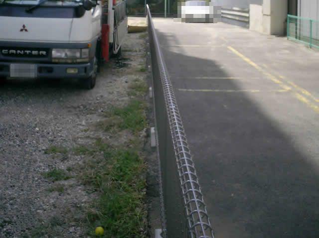 駐車場隣地境界 メッシュフェンス工事 名古屋市