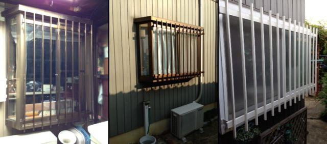 出窓にもアルミ面格子 一戸建て住宅の防犯対策工事 刈谷市