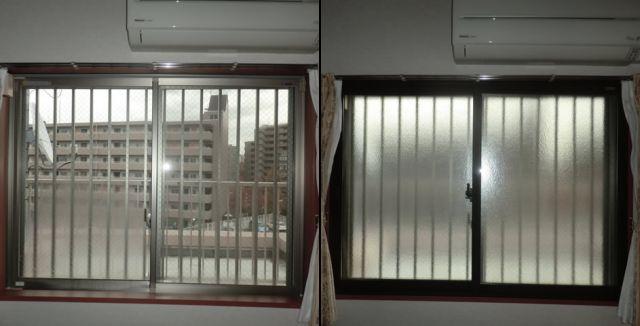 窓の寒さ対策、結露対策 トステム製内窓インプラス工事 名古屋市
