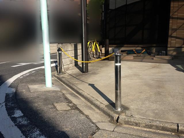 駐車場ポール設置工事 スペースガード(車止め) 名古屋市