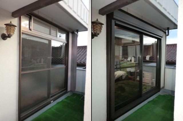 シャッターサッシ取替工事 カバー工法 リフォームシャッター 名古屋市