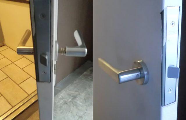 ドアのレバーハンドル錠取替工事 名古屋市