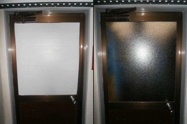 ドアのガラス修理、交換 名古屋市