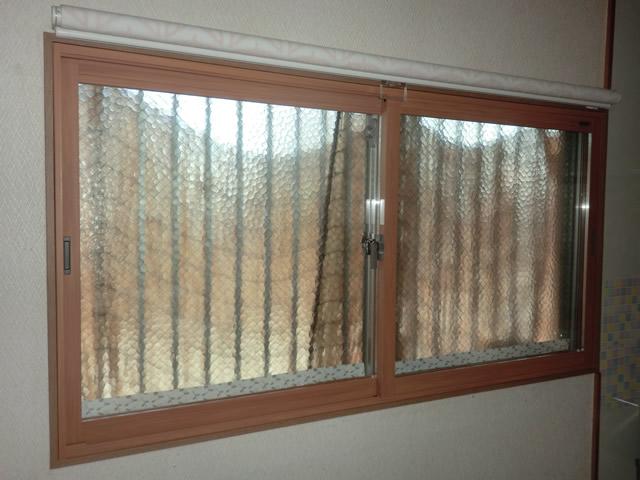 窓の結露対策 トステム製 二重窓インプラス 冬場のヒートショック対策にも 名古屋市