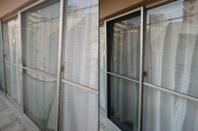 網戸張替え工事 掃出し窓用 名古屋市