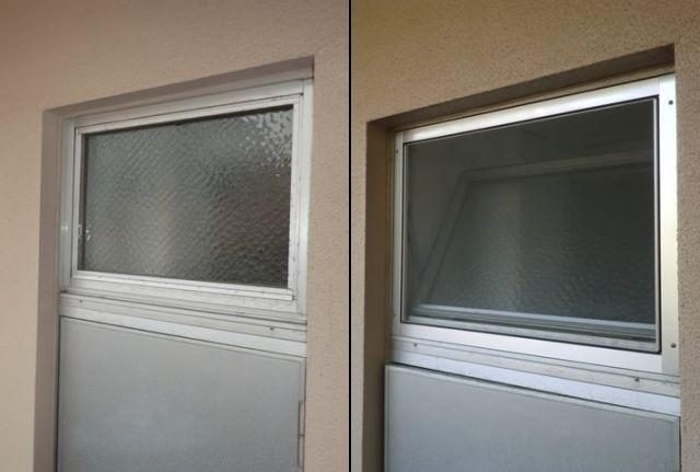 内倒し窓に網戸新設工事 名古屋市