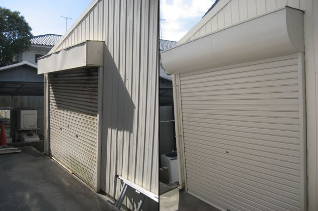 店舗の手動シャッター取替え工事 シャッターの開閉がしづらい 名古屋市