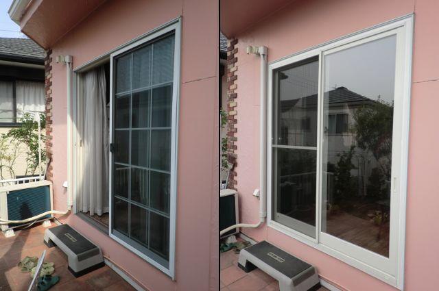 窓のリフォーム工事 カバー工法によるサッシ取替え 名古屋市
