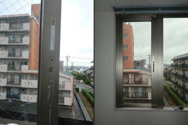 サッシ修理、交換 三協立山サンミッテ片開き窓 名古屋市