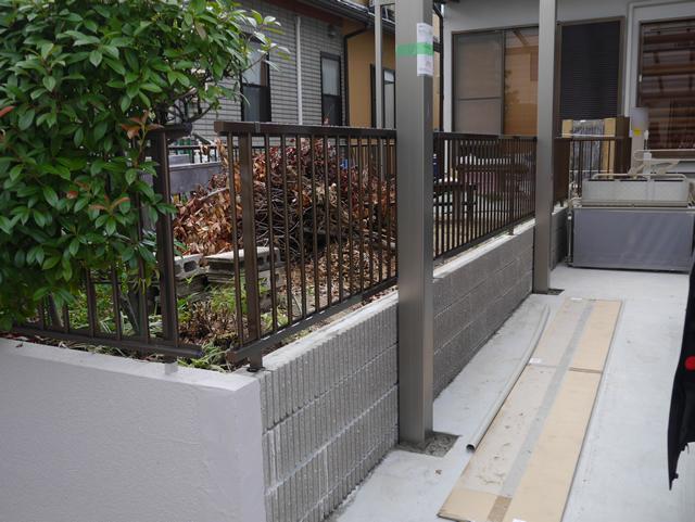 フェンス工事 三協立山 カムフィX2型 エクステリア 名古屋市