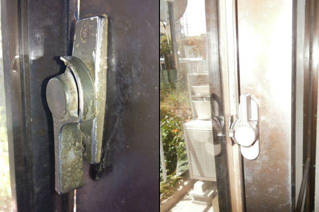 窓のクレセント取替工事 サッシ修理、交換 名古屋市