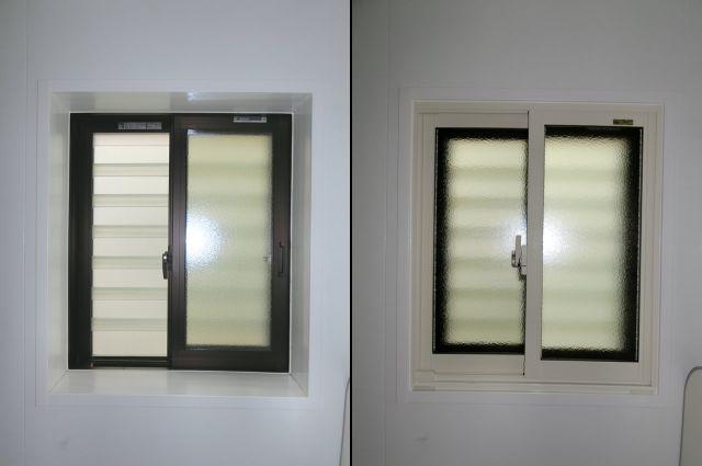 浴室窓に内窓インプラス 断熱対策、目隠し対策に 大府市