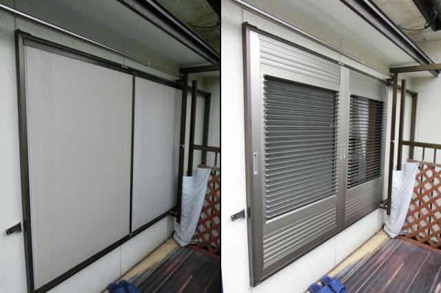 雨戸から可動ルーバー雨戸への取替工事<2> 風通しのできる雨戸 名古屋市