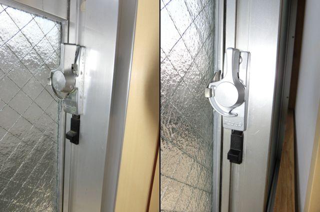 引違い窓クレセント交換 ビル用不二サッシ製品 名古屋市天白区