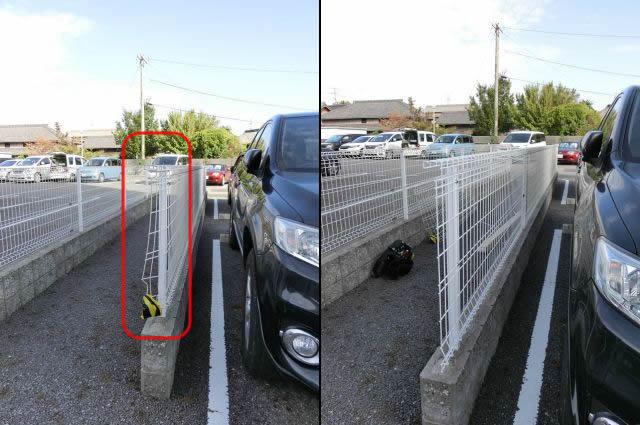 駐車場フェンス補修工事 三協立山 ユメッシュG型フェンス1枚取替 知多郡