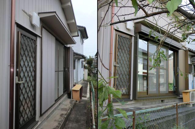 雨戸から電動シャッターへ取替工事 窓の防犯対策 海部郡蟹江町