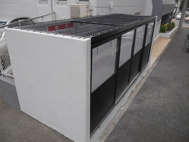 マンションゴミ置き場改修工事 メッシュ引戸タイプ<1>名古屋市中区