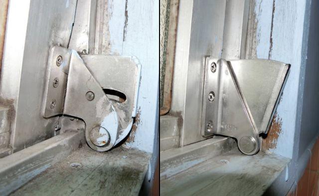 サッシ修理、補修 内倒し窓の開閉不具合 名古屋市瑞穂区