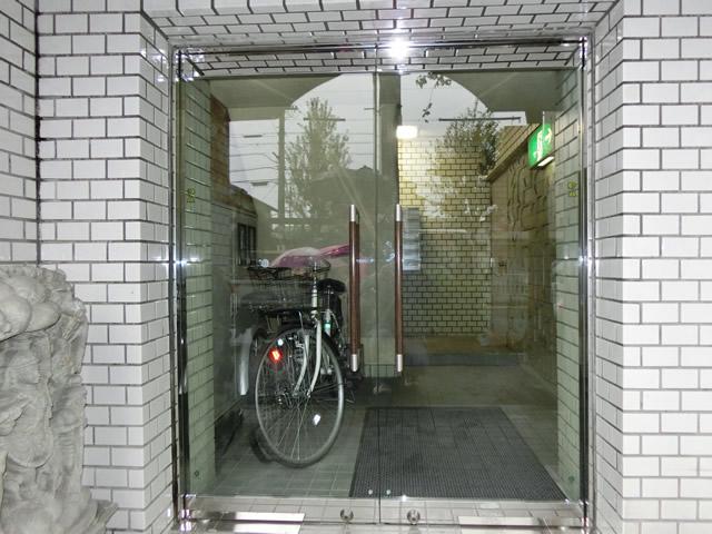 マンションエントランスドア改修工事 両開きテンパドア 名古屋市昭和区