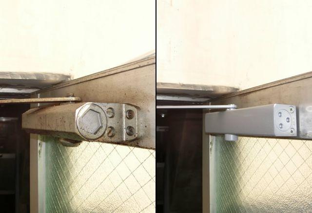 事務所入口ドアのドアクローザー取替工事 名古屋市中川区
