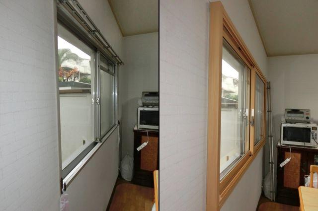 キッチン窓の結露対策、寒さ対策 LIXIL内窓インプラス 名古屋市千種区