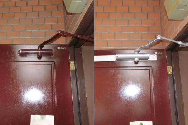 マンション玄関ドアのドアクローザー取替工事 名古屋市名東区