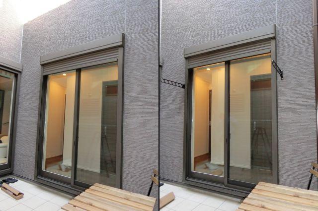 物干し金物取付工事 壁付けタイプ 名古屋市熱田区