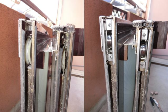 窓の開閉不具合 サッシの戸車修理、交換 名古屋市天白区