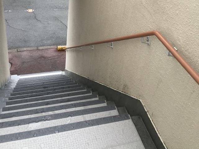 マンション共用部への手摺設置工事 名古屋市南区