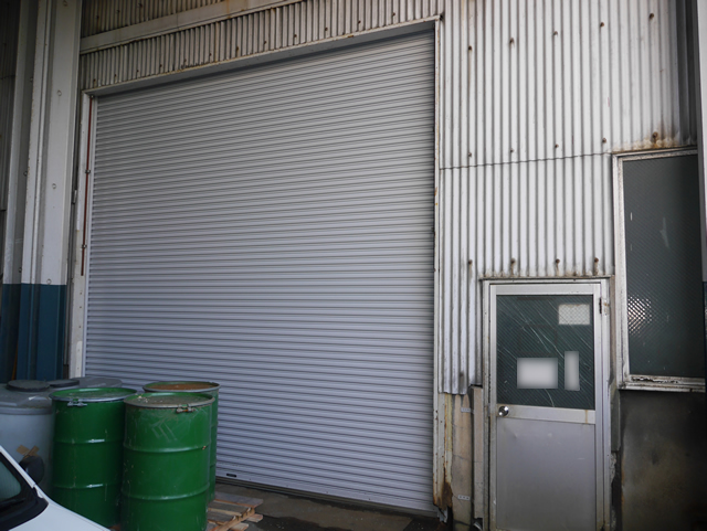 工場の電動シャッター取替工事 名古屋市港区