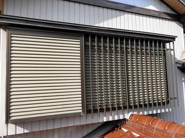 アルミ面格子取付工事 窓の防犯対策 名古屋市港区
