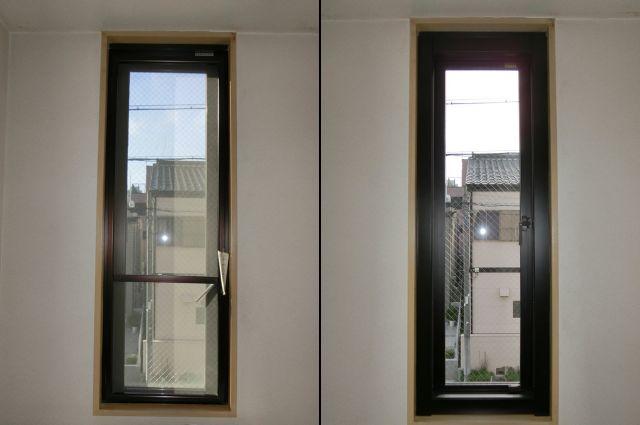 アルミサッシ窓の取替工事 カバー工法 名古屋市昭和区