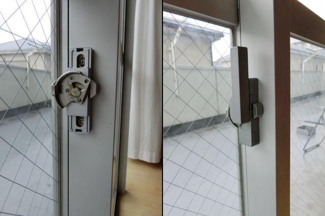 ビル用サッシのクレセント交換 名古屋市中村区